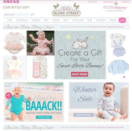 Baby Bling Street Featured ProductCart Site
