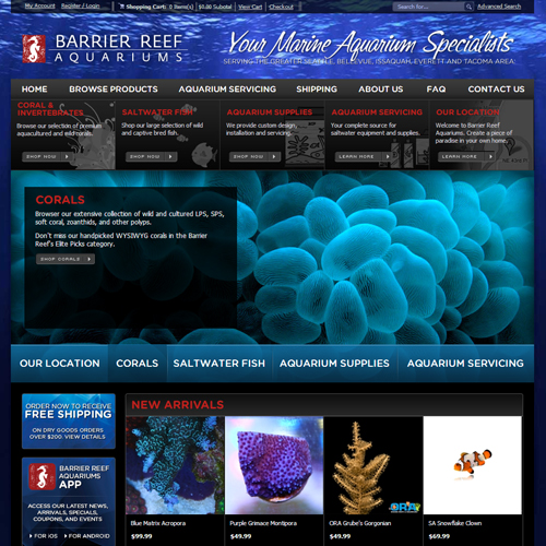 Barrier Reef Aquariums Featured ProductCart Site