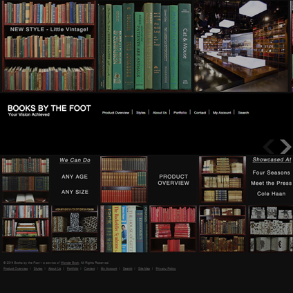 Books by the Foot Featured ProductCart Site