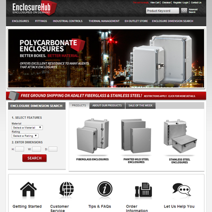 Enclosure Hub Featured ProductCart Site