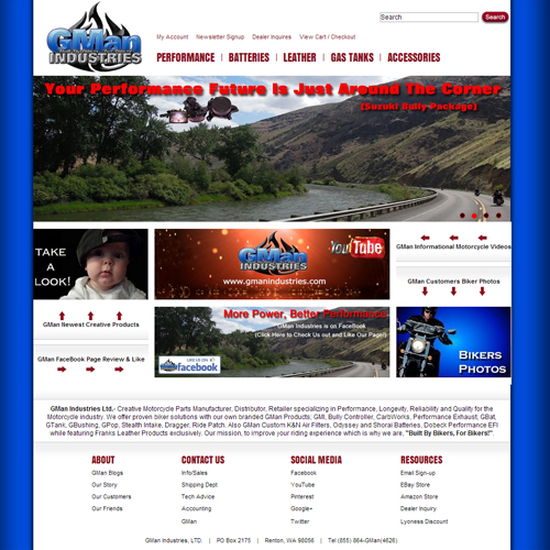 GMan Industries, LTD. Featured ProductCart Site