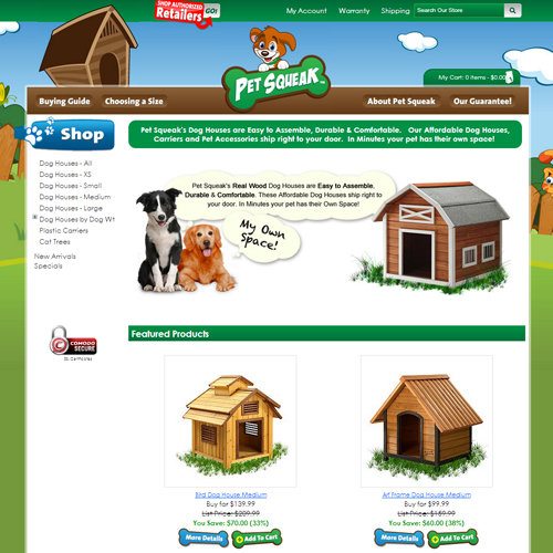 Pet Squeak Featured ProductCart Site