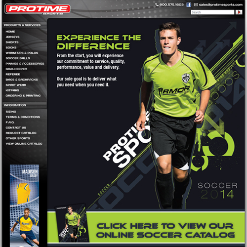 Protime Sports Soccer Featured ProductCart Site