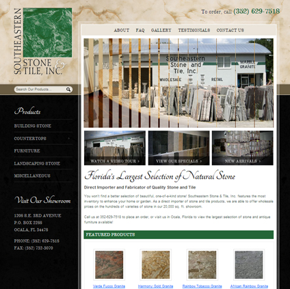 Southeastern Stone & Tile Featured ProductCart Site