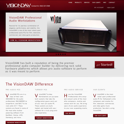 VisionDAW Featured ProductCart Site