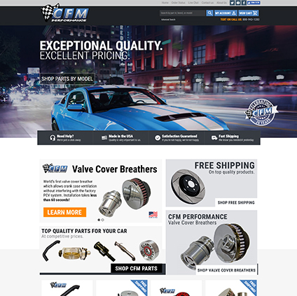 CFM Performance Featured ProductCart Site