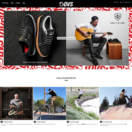 DVS Shoes Featured ProductCart Site