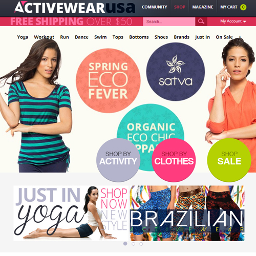 Activewear USA Featured ProductCart Site