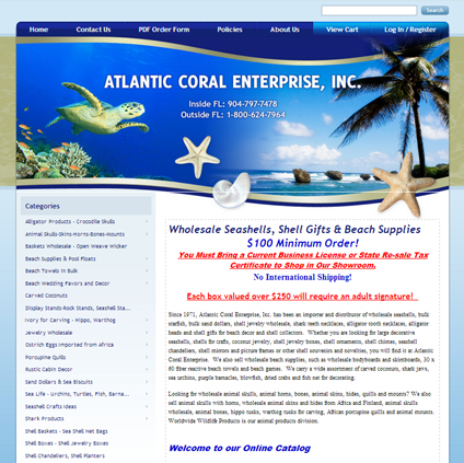 Atlantic Coral Featured ProductCart Site