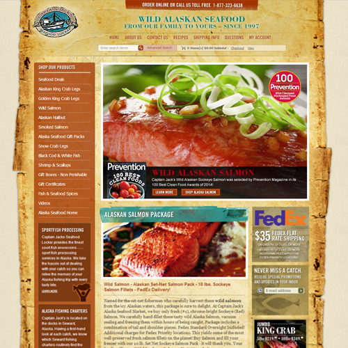 Captain Jack's Seafood Locker Featured ProductCart Site