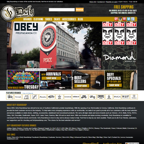 Defy Boardshop Featured ProductCart Site