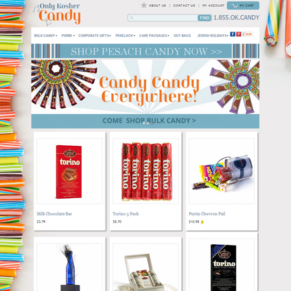 Only Kosher Candy Featured ProductCart Site