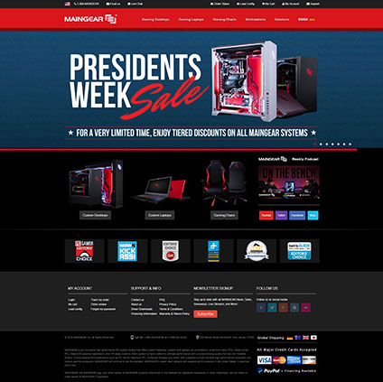 Maingear Featured ProductCart Site