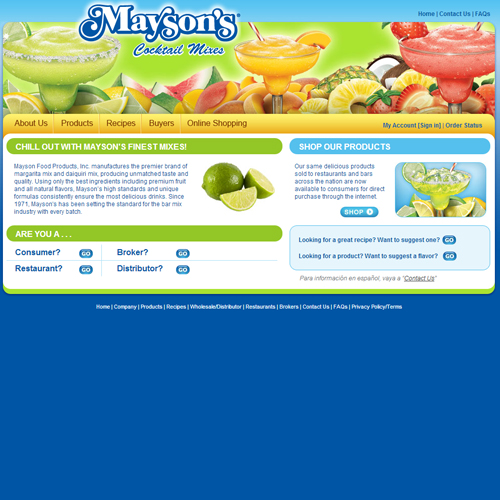Mayson's Margarita Mixes Featured ProductCart Site