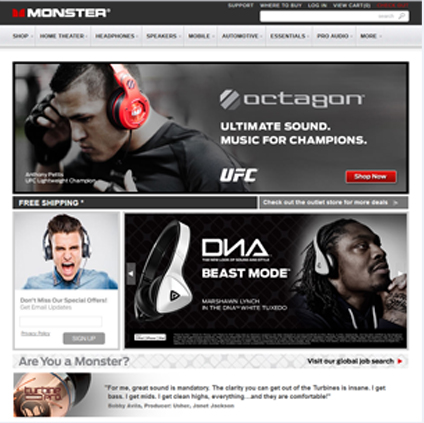 Monster Cable Featured ProductCart Site