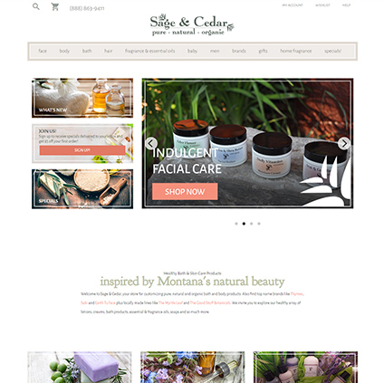 Sage And Cedar Featured ProductCart Site