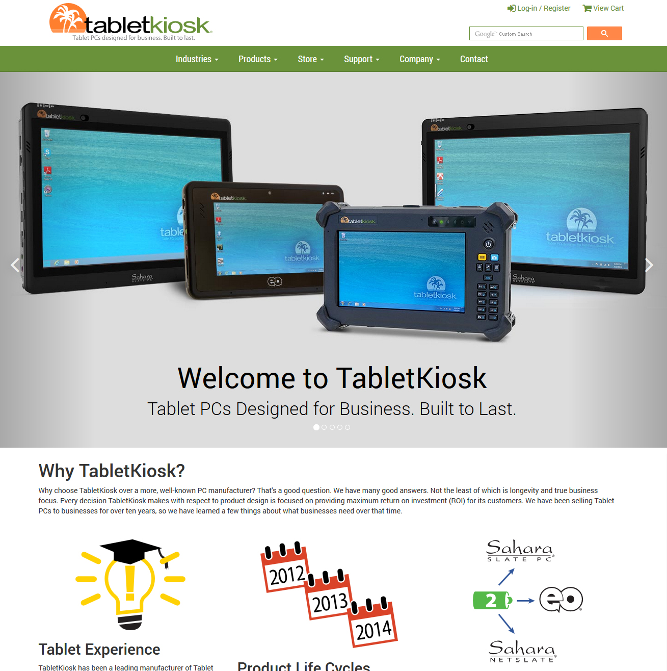 Tablet Kiosk Featured ProductCart Site