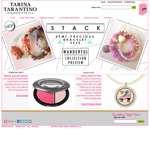 Tarina Tarantino Featured ProductCart Site