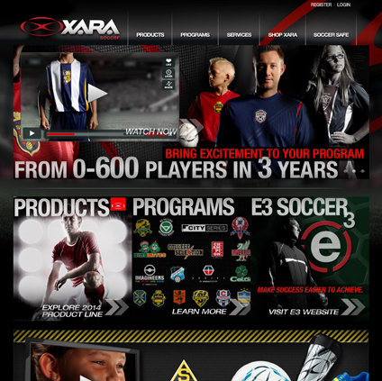 Xara Soccer Featured ProductCart Site